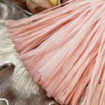 Рафия, матовый светло-персиковый цвет, ширина 5 мм