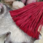 Raffia Matt Finish, Lipstick Red Color, 5 mm width