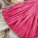 Рафия, матовый бордовый цвет, ширина 5 мм