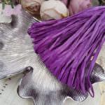 Рафия, матовый фиолетовый цвет, ширина 5 мм