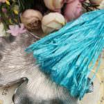 Рафия, перламутровый цвет морской волны, ширина 5 мм