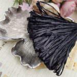 Рафия, черный перламутровый цвет, ширина 5 мм