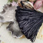 Raffia Pearl Finish, Black Color, 5 mm width