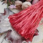 Raffia Pearl Finish, Blood Red Color, 5 mm width