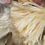 Рафия, кремовый перламутровый цвет, ширина 5 мм