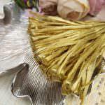 Рафия, золотой оливковый перламутровый цвет, ширина 5 мм