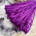 Рафия, фиолетовый перламутровый цвет, ширина 5 мм