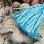 Рафия, небесно-голубой перламутровый цвет, ширина 5 мм