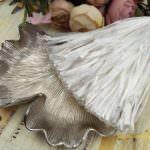 Raffia Pearl Finish, White Color, 5 mm width