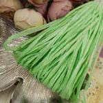 Рафия, зеленый перламутровый цвет, ширина 5 мм