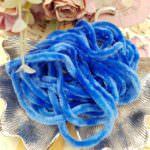 Синель синего цвета, Вискоза, 1 м