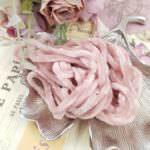 Viscose Chenille Thread, Light Rose Color, 1m