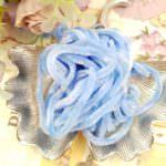 Синель голубого цвета, Вискоза, 1 м