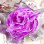 Viscose Chenille Thread, Lilac Color, 1m