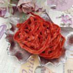Viscose Chenille Thread, Orange Color, 1m