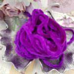 Viscose Chenille Thread, Purple Color, 1m