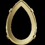 4327/S Оправы для кристаллов Swarovski, Золотое Покрытие, 30x20