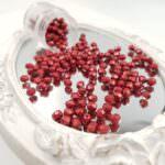 Fire Polished Czech Glass Beads Metallic Cherry Tomato 2-4 mm, #05A08