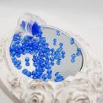 Fire Polished Czech Glass Beads Sapphire 2, 4 mm, #30050