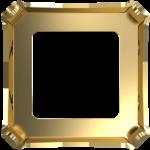 4499/S Оправы для кристаллов Swarovski, Золотое покрытие, 10 мм