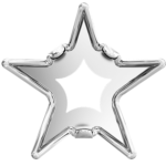 4745/S Swarovski Rivoli Star Tombac Settings, Rhodium Plated, 5-10 mm