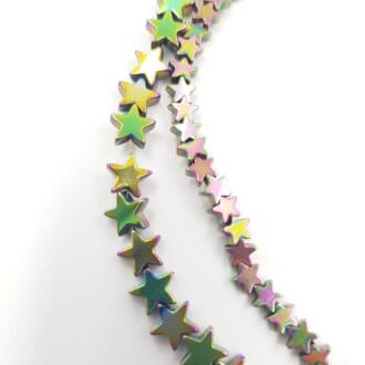 Hematite star beads rainbow color