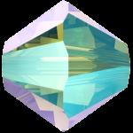 5328 Swarovski Xilion Beads (bi-cone) Peridot Shimmer 2X, 3mm, 10pcs