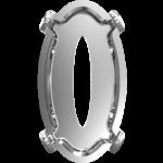 4162/s Swarovski Setting Tombac Silver Plating 10x5.5