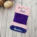 Glitter Thread Hemline, Purple, 10m