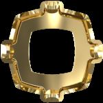 4460/S Оправы для кристаллов Swarovski, золотое покрытие, 8 мм
