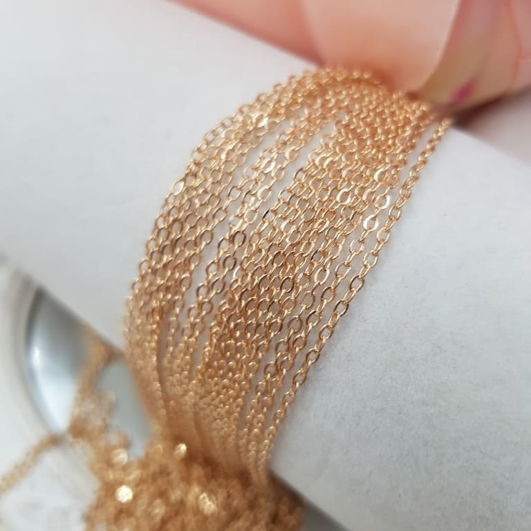 Rose Gold Anchor Link Chain 1.5 mm