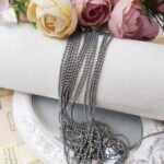 Faceted Ball Chain / Bead Chain Grey Color, 1.5 mm