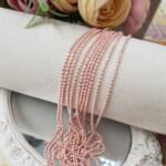 Faceted Ball Chain / Bead Chain Pale Pink Color, 1.5 mm