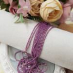 Faceted Ball Chain / Bead Chain Lilac Color, 1.5 mm