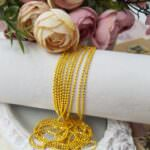 Faceted Ball Chain / Bead Chain Yellow Color, 1.5 mm