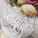French Flat Sequins/Paillettes, Glossy Porcelain White (#11002) Sequins 4 mm, Langlois-Martin