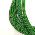 Stiff French Wire, 1-1,25mm diameter, Dark Green Color, KS7720