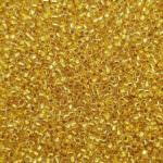 Бисер TOHO круглый 15/0, 24k позолота изнутри кристалл TR-15-701