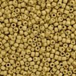 TOHO Round Seed Beads 15/0 PermaFinish Mate Galvanized Starlight  TR-15-PF557F