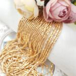 Two-cut Preciosa Beads, Stranded, 10/0 size, 18304 Mat Gold