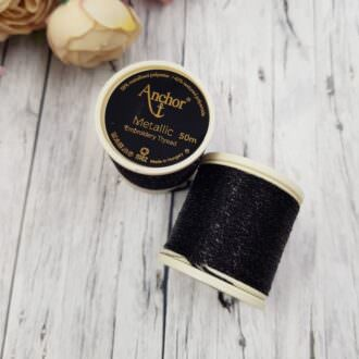 Anchor Metallic Thread Black