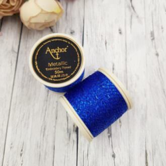 Anchor Metallic Thread Blue