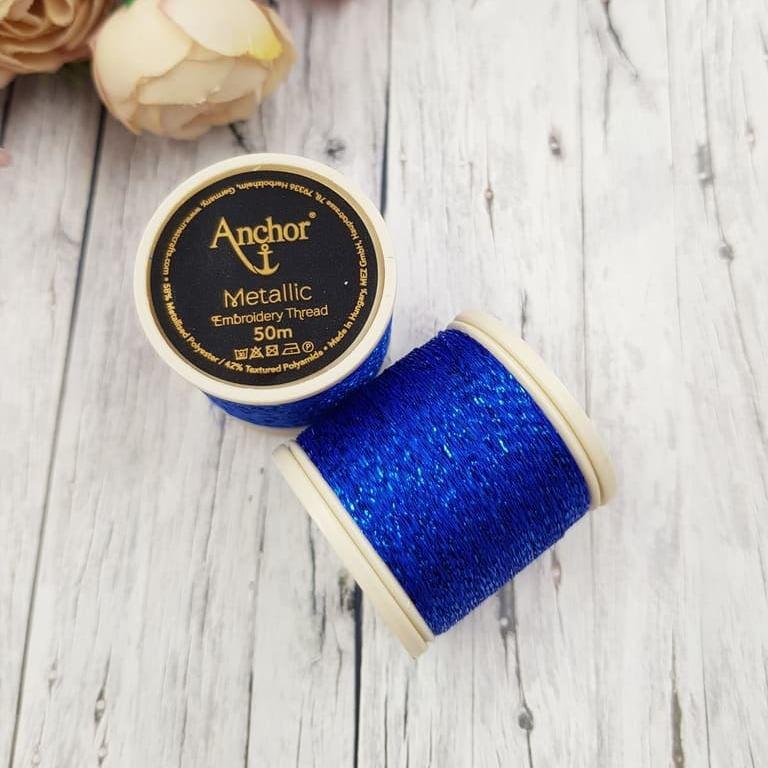 Anchor Metallic Thread Blue