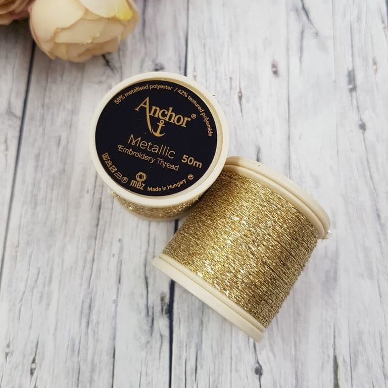 Anchor Metallic Thread Gold