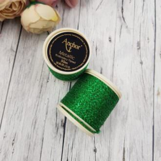 Anchor Metallic Thread Green