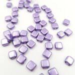 CzechMates Tile Beads, Saturated Metallic Crocus Petal, 6x6mm, PB306-66-06B08
