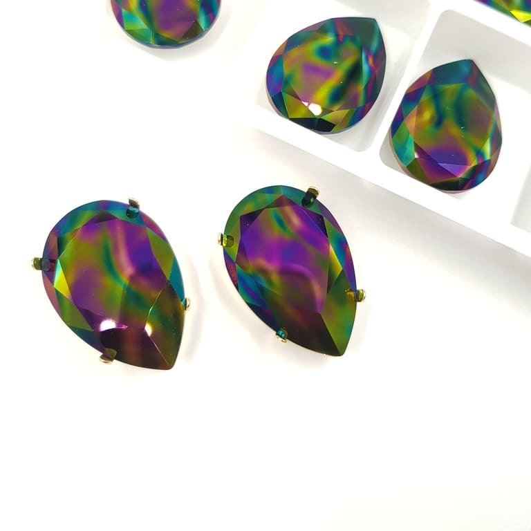 4327 Swarovski Fancy Stone 30x20mm Crystal Rainbow Dark