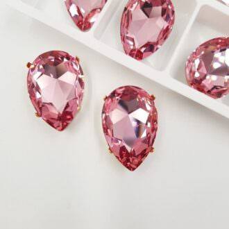 4327 Swarovski Fancy Stone 30x20mm Light Rose