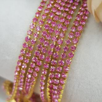 Pink Gold plated cup chain ss6