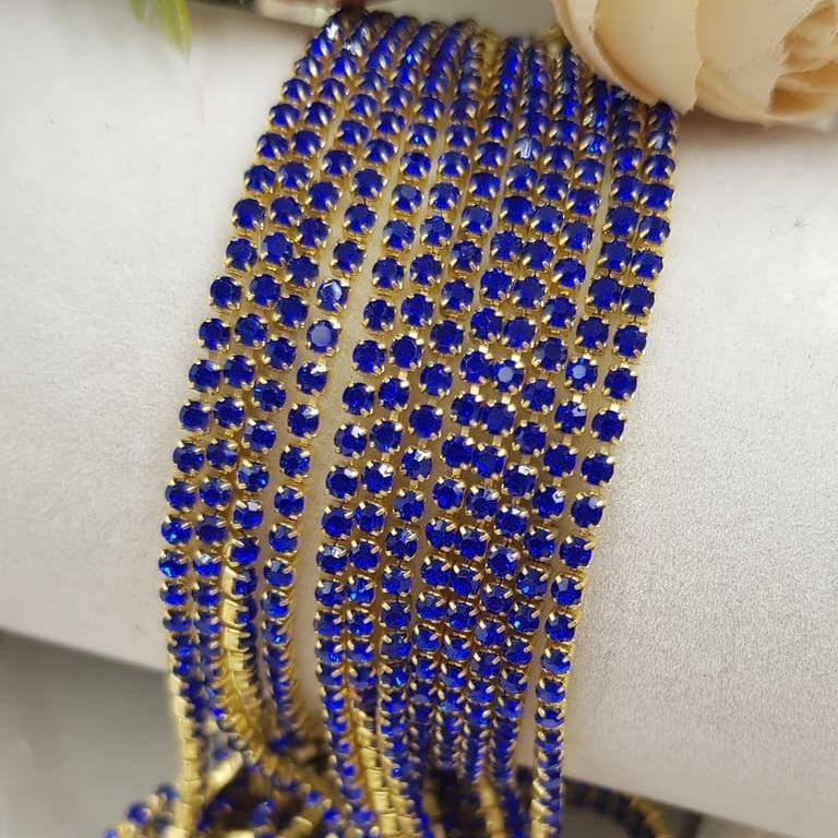 Majestic Blue gold plated cup chain ss6